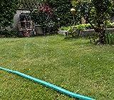 Sprühschlauch für pflanzenschonende Bewässerung | Schlauchregner für feinen Sprühregen | Flacher Gartenschlauch mit 3 Kanälen und ½ Zoll Anschluss | Jardinax - 4