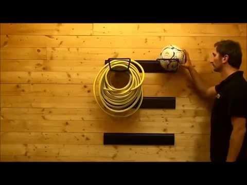 Gartenschlauchhalter - Gerätehalter 24 x 15 x 10,5 cm - Gartengerätehaken von Powerplustools