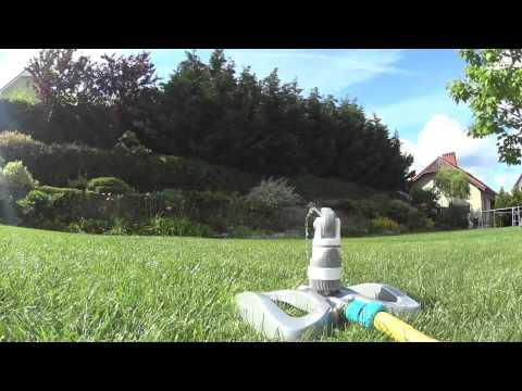 Pflanzen giessen (Kreisregner Metallsockel 4 Funktionen)