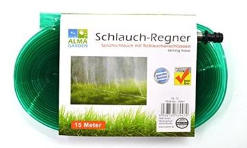 Schlauchregner 15 Meter | Sprühschlauch | Rasensprenger | Bewässerungsschlauch -