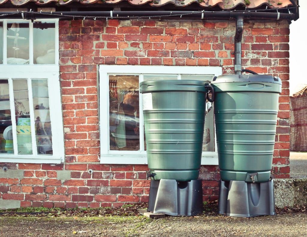 Säulentank zur Speicherung von Regenwasser